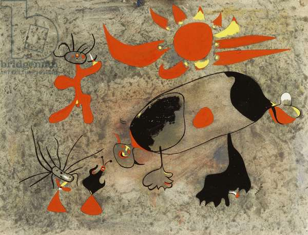 Pastorale, 1938 (gouache on paper)