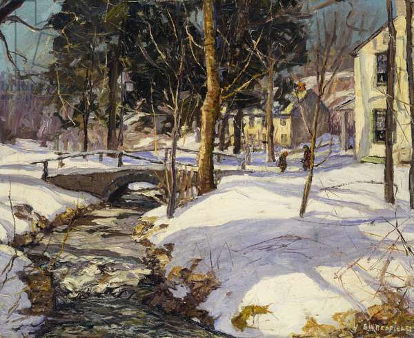 Spring Valley, 1946 (oil on canvas)