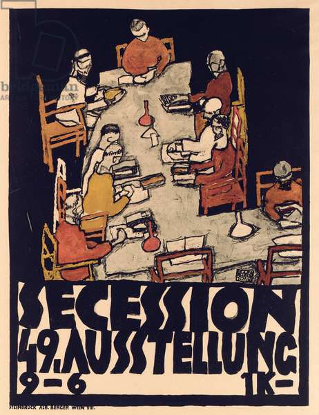 Poster advertising Secession 49 Exhibition, 1918 (colour litho)