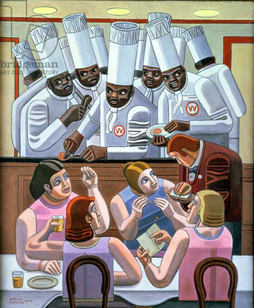 The Wimpy Bar, 1975 (oil on canvas)