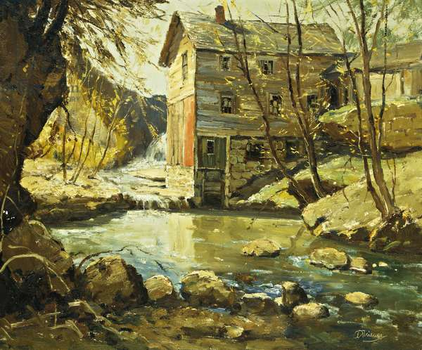 The Mill, (oil on canvas)