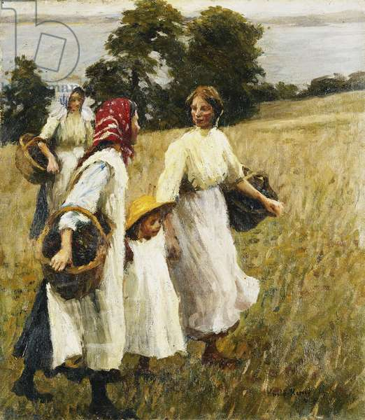 The Blackberry Harvest, c.1908 (oil on canvas)