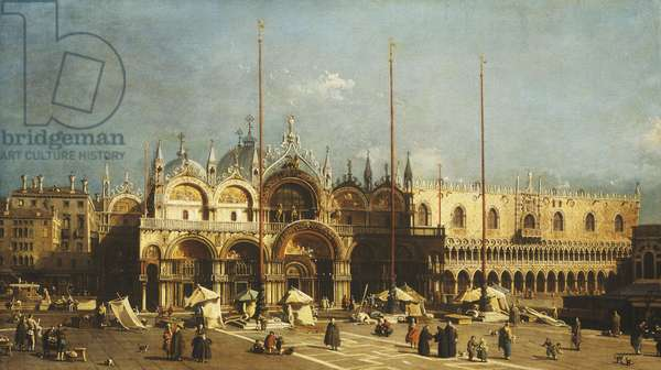 San Marco and the Doge's Palace, Venice, from the Piazza San Marco, c.1740s (oil on canvas)