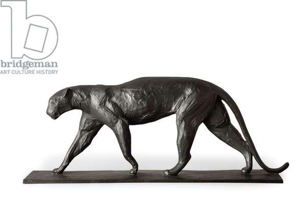 Leopard marchant, 1911 (bronze)