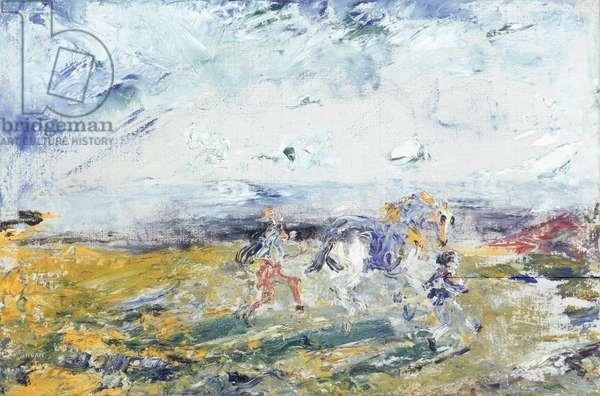 The Race, 1947 (oil on canvas)