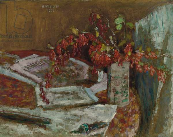 Flower Bouquet on a Table; Bouquet de Fleurs sur une Table, 1900 (oil on board)