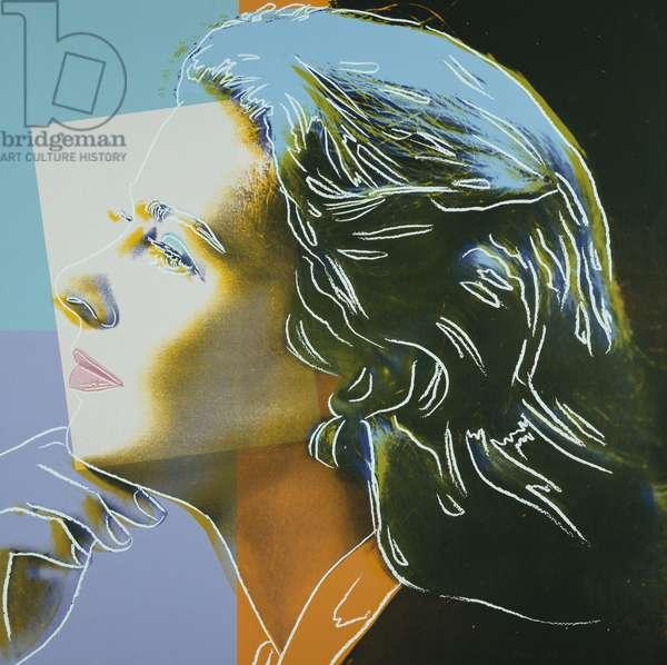 Ingrid Bergman, 1983 (colour screenprint)