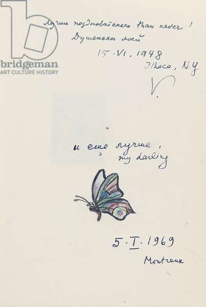 Page from 'A Bunch. Poems.' and 'Verses (1929-1951)', inscribed 1948 and 1969 (pencil, pen & ink and print on paper)