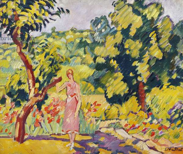 In the Artist's Garden at Choisel, c.1935 (oil on canvas)