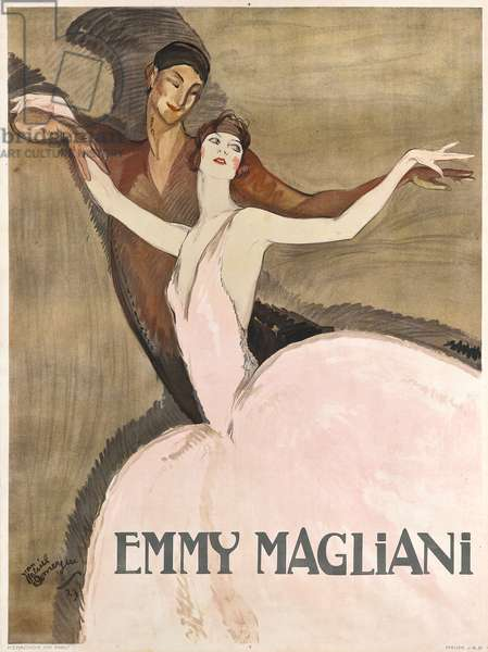 Emmy Magliani, 1923 (colour litho)