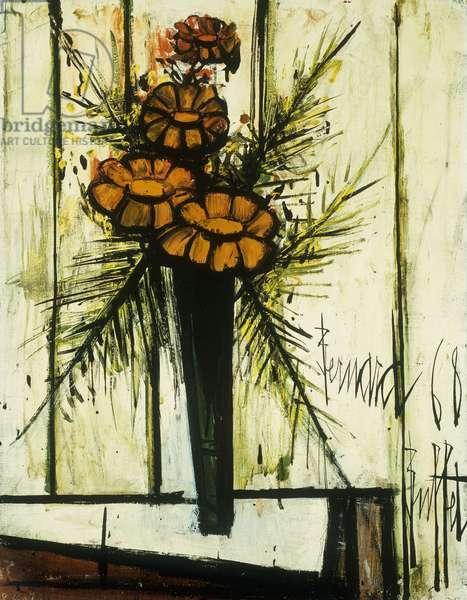 Vase de Fleurs, 1968 (oil on canvas)