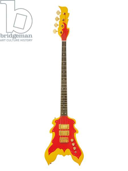 Peter Cook custom bass guitar for John Entwhistle, The Who (wood, metal & plastic)