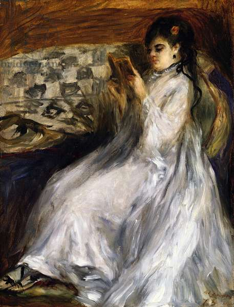 Woman in White Reading, 1873 (oil on canvas)