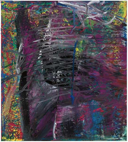 Abstract Painting, Purple (600-2); Abstraktes Bild Violett (600-2), 1986 (oil on canvas)