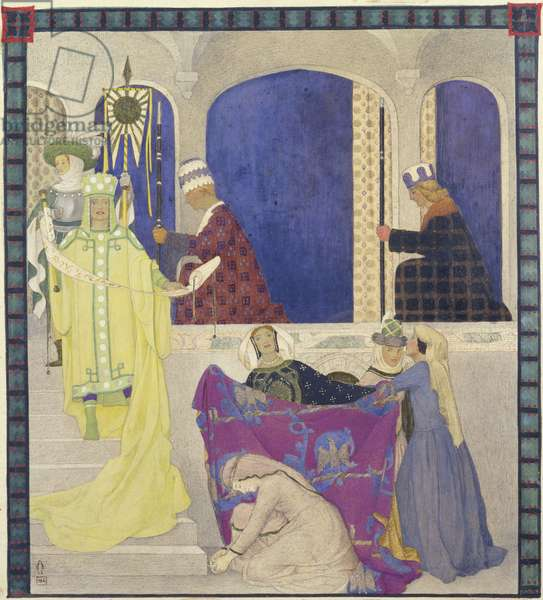 One of twelve illustrations for 'A Winter's Tale' by Shakespeare, 1922 (tempera on board)