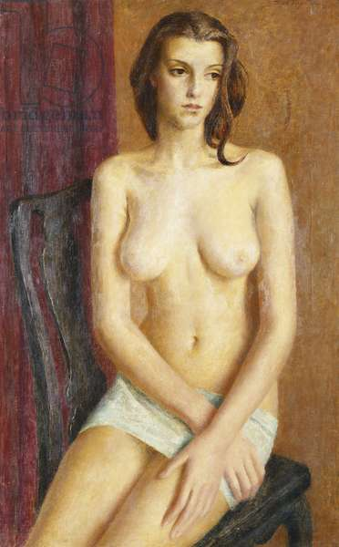 Nude Study of a Young Girl, (oil on canvas)
