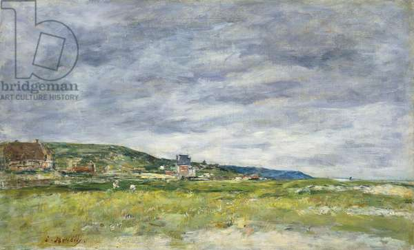Deauville, Les Dunes, (oil on canvas)
