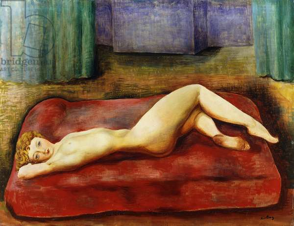 Nude on Red Bed; Nu au Lit Rouge, 1937 (oil on canvas)