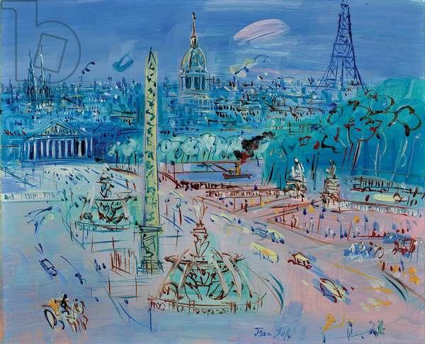 Place de la Concorde, c. 1952-1954 (oil on canvas)