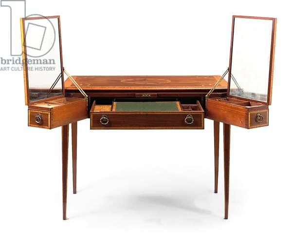 George III Rudd's table, c.1770 (mahogany & marquetry) (see also 1163627)