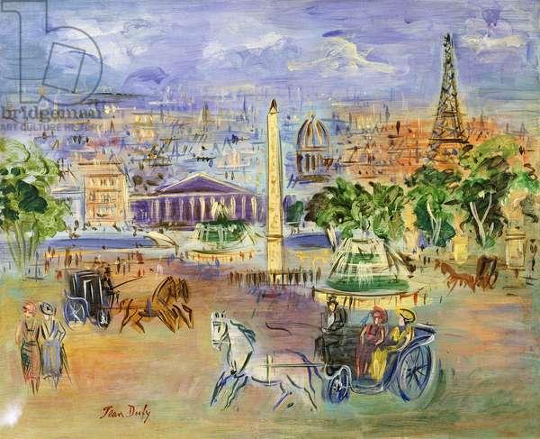 Place de la Concorde,  (oil on canvas)