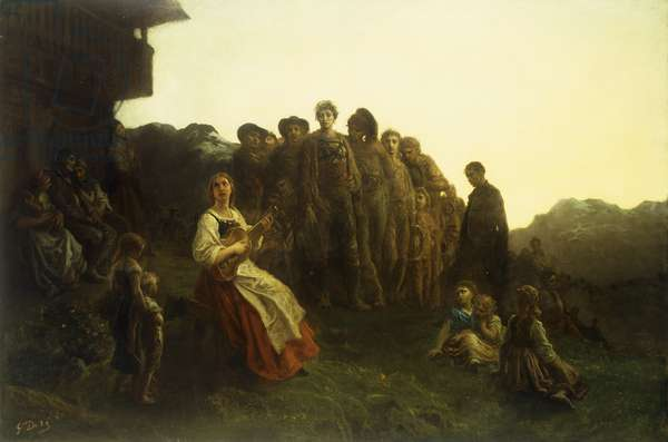 The Balladeer (oil on canvas)