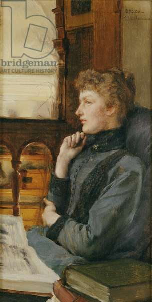 Far Away Thoughts, 1890 (oil on panel)
