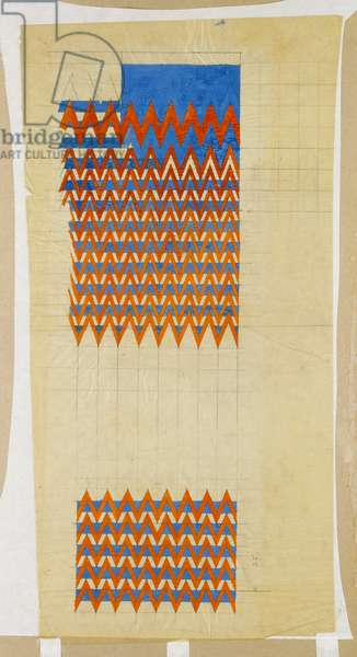 Fabric Design, 1916 (pencil & bodycolour on oiled tracing paper)