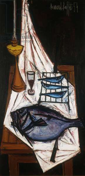 Still life with Fish; Nature Morte aux Poissons, 1954 (oil on canvas)
