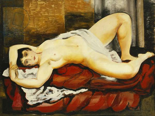 Nude in White Sheet; Nu Couche au Drap Blanc, 1919 (oil on canvas)