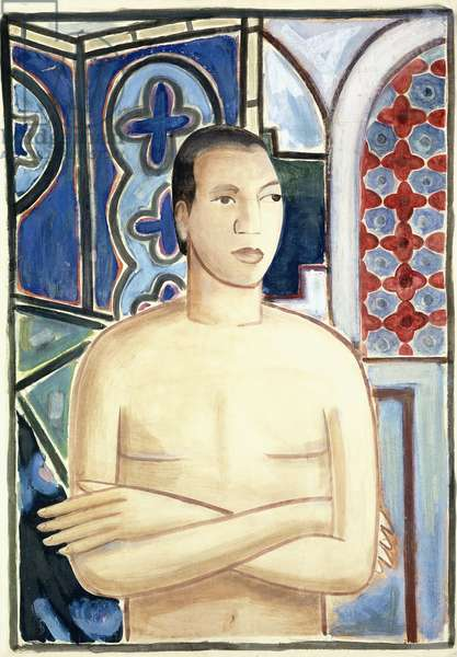 Self-Portrait; Autorretrato, c.1938 (gouache and watercolour on paper laid down on canvas)