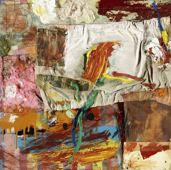 Untitled, c.1955 (mixed media, cardboard and tissue collaged on silk)