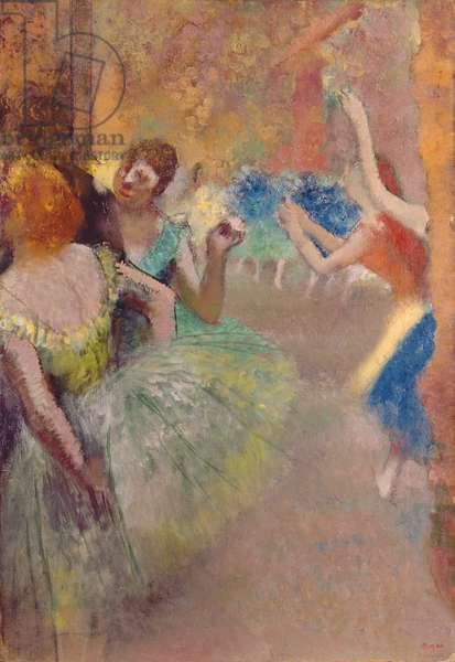 Ballet Scene; Scene de ballet, c.1885 (oil on canvas)