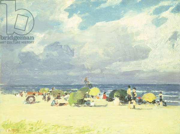 Purple Beach Scene (oil on canvas board)