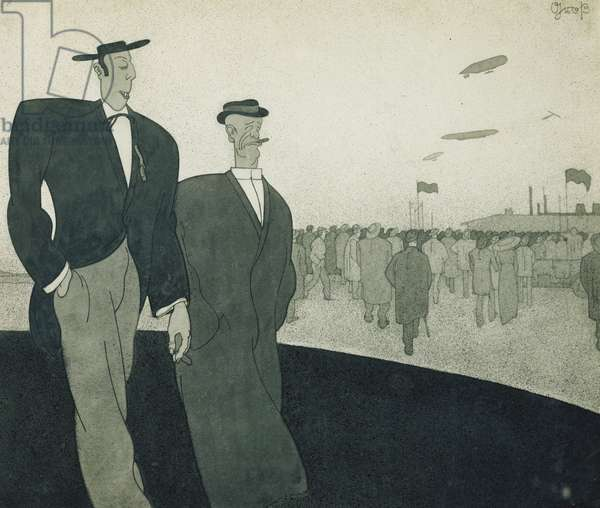 Sporthumour (recto); Sporthumor (recto), c.1912 (brush, airbrush and black ink and pencil on printed paper)