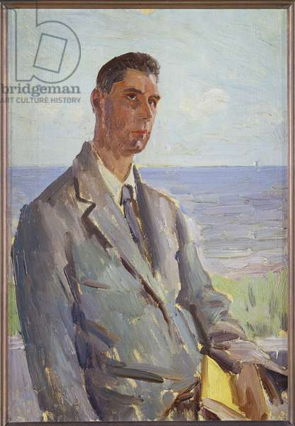 Thomas Earp, Meditation at Ischia (oil on canvas)