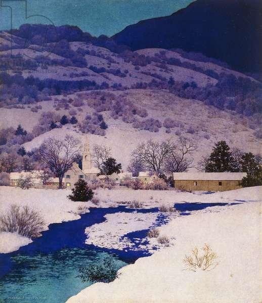Deep Valley, 1946 (oil on masonite)