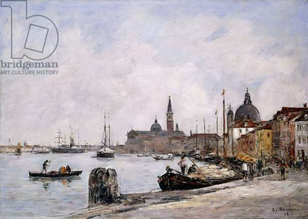 The Quay on Giudecca, Venice, 1895 (oil on canvas)