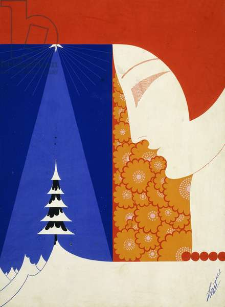 Christmas, 1929 (gouache on paper)