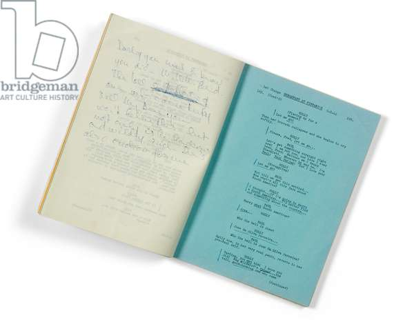 Audrey Hepburn's working script for the 1961 Paramount production Breakfast at Tiffany's, 3 August, 1960 (mimeographed typescript with brass brads)
