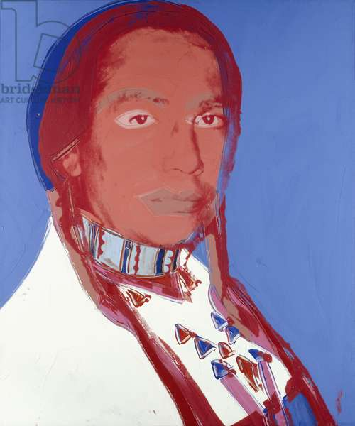 The American Indian (Russel Means), 1976 (synthetic polymer and silkscreen inks on canvas)