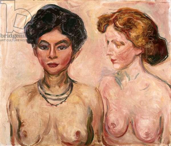 Double Portrait (Blond and Black); Doppelportrait (Blond und Schwarz), 1903 (oil on canvas)