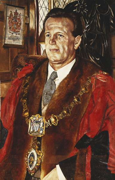 Portrait of Dr. Osmund Frank, Mayor of Maidenhead, 1951 (oil on canvas)