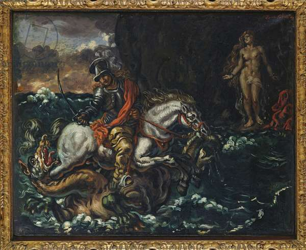 St. George and the Dragon (oil on canvas)