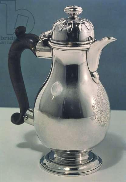 Silver jug by Simon Pantin, 1712-13