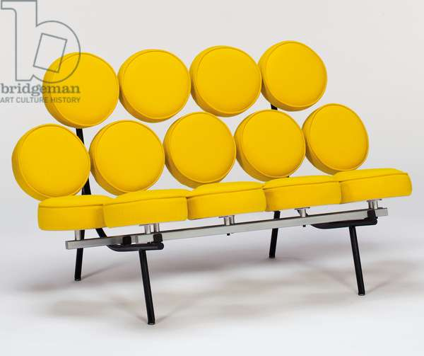 'Marshmallow' sofa, designed 1956 (steel & wool)