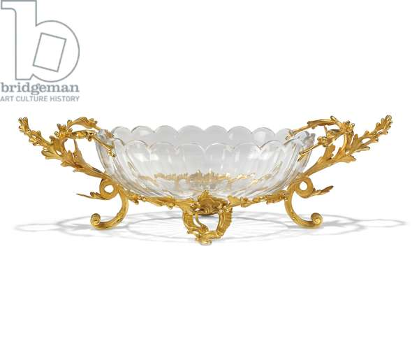 Centrepiece, late 19th-early 20th century (ormolu-mounted glass)