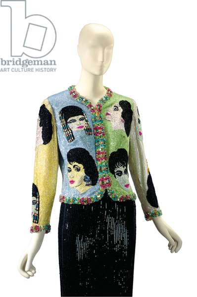 Versace beaded evening jacket, 'The Face', c.1992 (beads, rhinestones & silk)