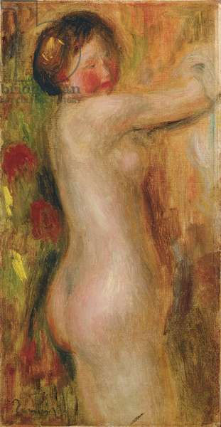 Nude with raised arm (oil on canvas)