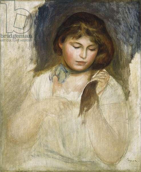 Head of Gabrielle, 1895 (oil on canvas)